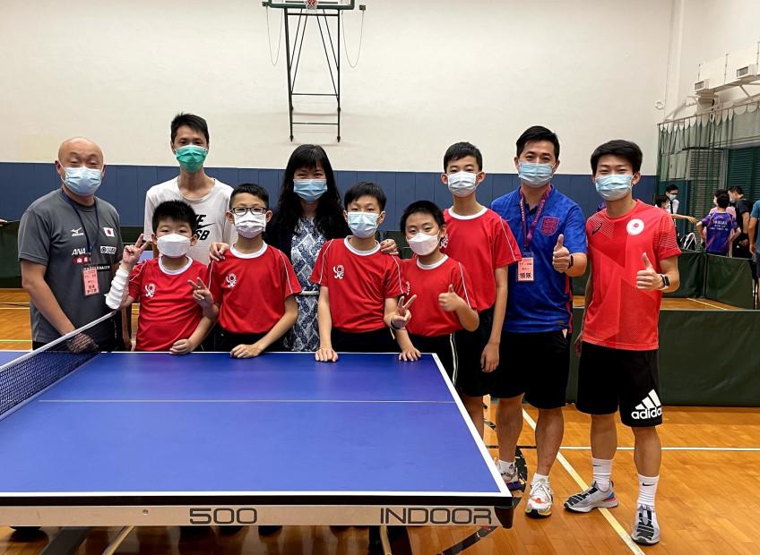沙田區小學校際乒乓球比賽男子團體冠軍