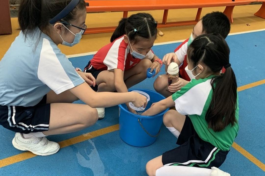 數學周活動-比較水樽的容量